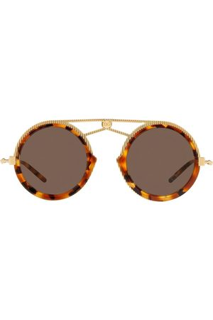 Dolce & Gabbana Men Sunglasses - Tortoiseshell aviator frame sunglasses