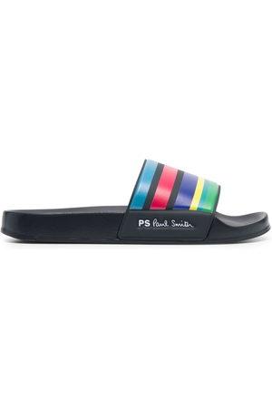 Paul Smith Men Thongs - Striped sliders