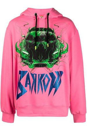 BARROW Car print drawstring hoodie