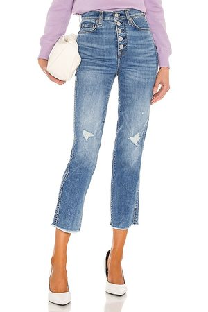 7 for all Mankind High Waist Crop Straight Exposed Buttons in .