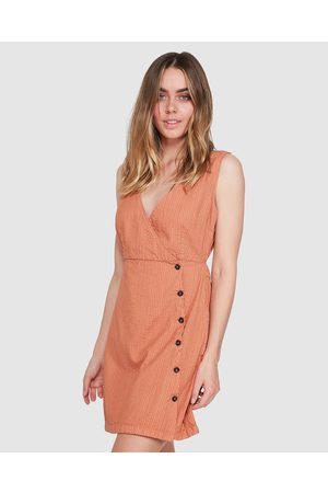 Element Women Midi Dresses - Cherish Dress - Dresses (CARAMEL) Cherish Dress