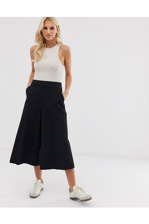 ASOS Tailored clean culottes-Black