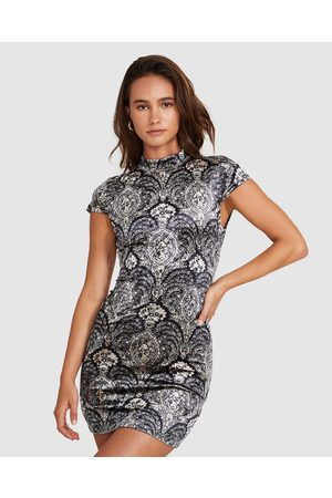 Neon Hart Women Casual Dresses - Paisley Clover Tie Back Dress