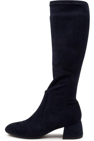 Django & Juliette Chevy Dj Navy Boots Womens Shoes Casual Long Boots