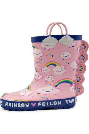 Clarks 202239 Play Jnr Ck Rainbows Boots Girls Shoes Casual Calf Boots