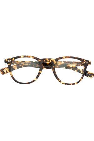 GARRETT LEIGHT Tortoiseshell-effect round-frame glasses