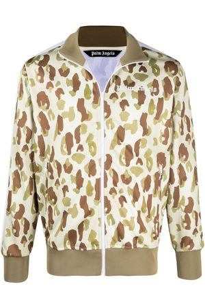 Palm Angels Men Outdoor Jackets - Camouflage-print track jacket
