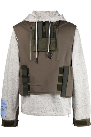 McQ Panelled cotton hoodie