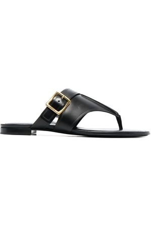 Tod's Women Sandals - Side-buckle leather flat sandals