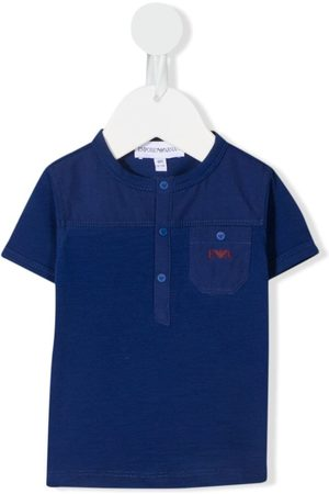 Emporio Armani Polo Shirts - Logo-embroidered polo shirt
