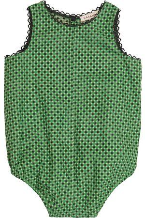 Caramel Baby Lamprey printed cotton bodysuit
