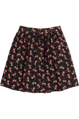 Caramel Flounder floral cotton skirt
