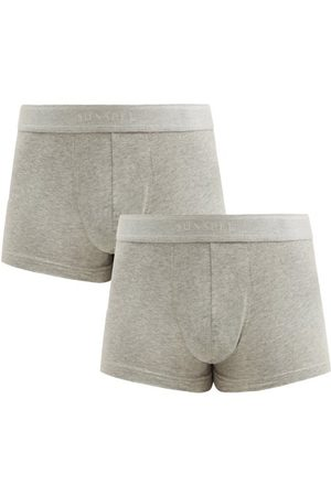 Sunspel Pack Of Two Cotton-blend Boxer Briefs - Mens