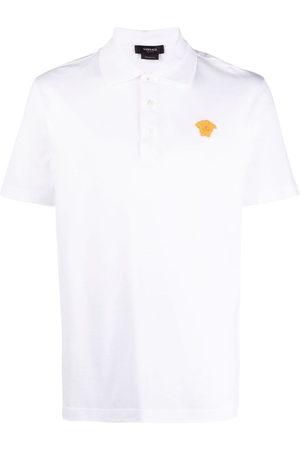 VERSACE Men Polo Shirts - Medusa embroidered polo shirt