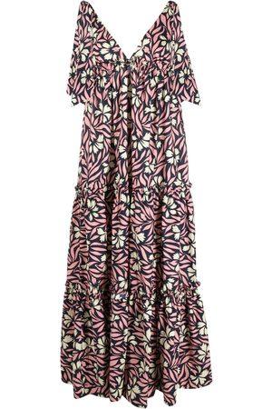P.a.r.o.s.h. Floral-print sleeveless maxi dress