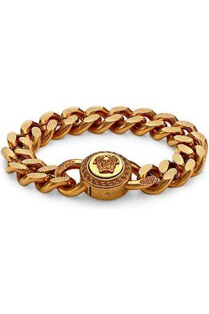 VERSACE Goldtone Chain Bracelet