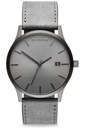 MVMT Classic Monochrome Stainless Steel & Leather-Strap Watch