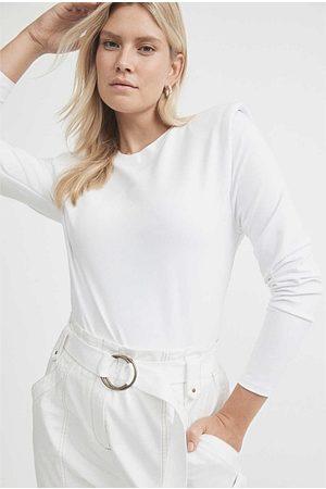 WITCHERY Women Long Sleeve - Long Sleeve Shoulder Pad Top