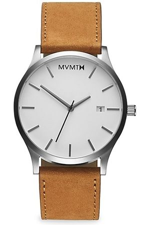 MVMT Classic Stainless Steel & Leather-Strap Watch