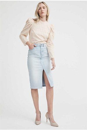 WITCHERY Longline Seam Detail Skirt