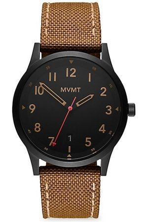 MVMT Field Range Stainless Steel & Canvas-Strap Watch