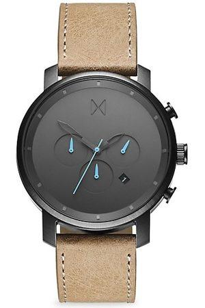 MVMT Chrono Gunmetal Stainless Steel & Leather-Strap Chronograph Watch