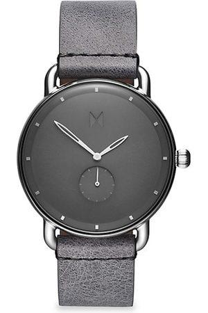 MVMT Revolver Gotham Stainless Steel & Leather-Strap Watch