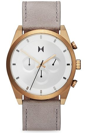 MVMT Element Bronze Ore Stainless Steel & Leather-Strap Chronograph Watch