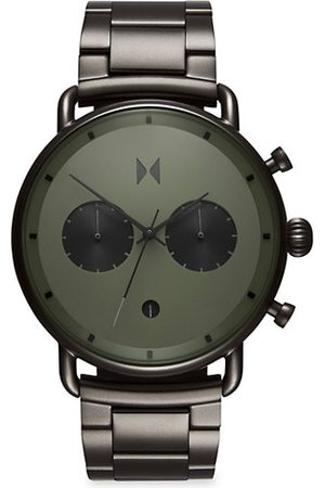 MVMT Men Watches - Blacktop Rallye Gunmetal Stainless Steel Chronograph Bracelet Watch