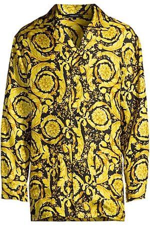 VERSACE Baroque Silk Pajama Top