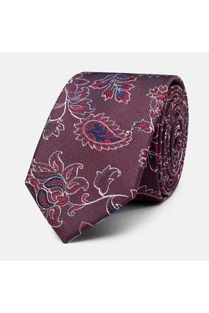 Politix Ties, One Size Burgundy Coltano Tie