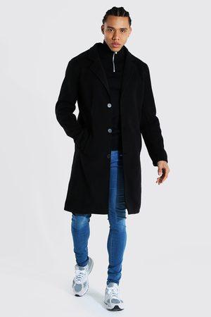 Boohoo Mens Tall Summer Wool Overcoat