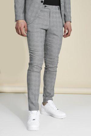 Boohoo Men Formal Pants - Mens Skinny Check Suit Trousers