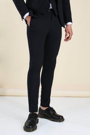 Boohoo Mens Super Skinny Navy Suit Trousers