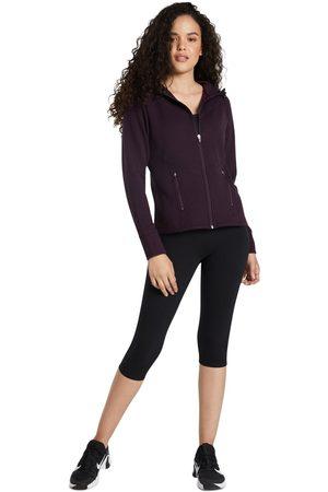 Rockwear Women Fleece Jackets - Funnel Neck Panneled Fleece Blackberry 14