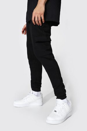 Boohoo Mens Skinny Fit Panelled Cargo Joggers