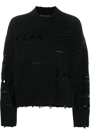 VERSACE Women Sweaters - Distressed knitted sweater