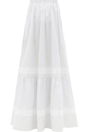 Erdem Women Printed Skirts - Annis Ditsy Floral-print Cotton-poplin Maxi Skirt - Womens - Multi