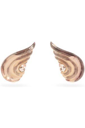 Fernando Jorge Women Earrings - Gleam Morganite & 18kt Rose- Clip Earrings - Womens - Rose