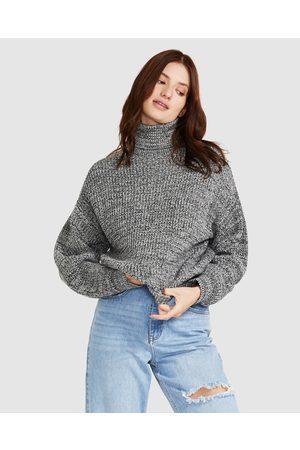 Neon Hart Women Turtlenecks - Soju Melange Knit Roll Neck Jumper