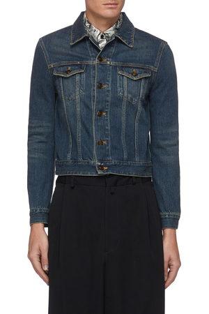 Saint Laurent Men Denim Jackets - Dirty wash denim jacket