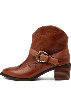 Django & Juliette Isabel Dj Cognac Boots Womens Shoes Casual Ankle Boots