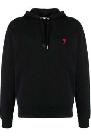 Ami Logo-embroidered drawstring hoodie