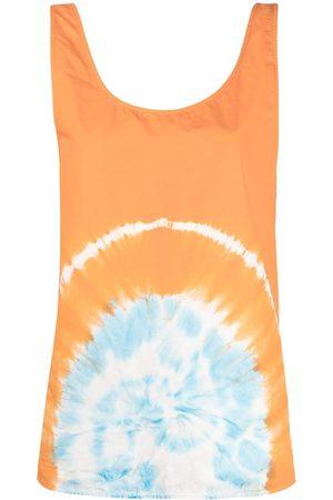 Msgm Tie-dye sleeveless top
