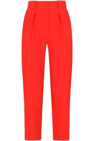 Dolce & Gabbana Women Formal Pants - High-waisted straight-leg trousers