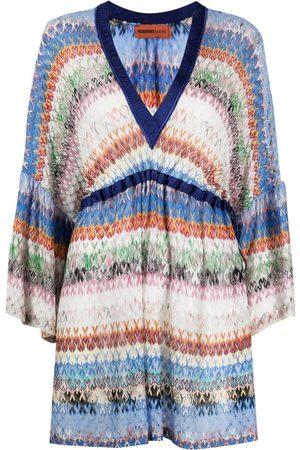 Missoni Women Mini Dresses - Striped zip-zag mini dress