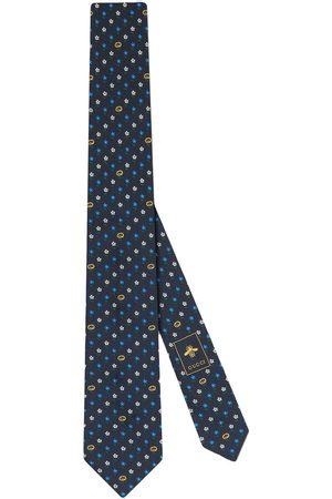 Gucci Men Bow Ties - Interlocking G and flowers silk tie