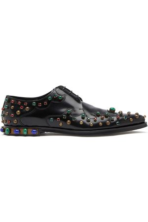 Dolce & Gabbana Crystal-embellished Derby shoes