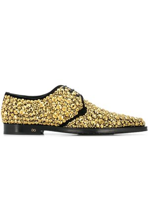Dolce & Gabbana Crystal embroidered Derby shoes
