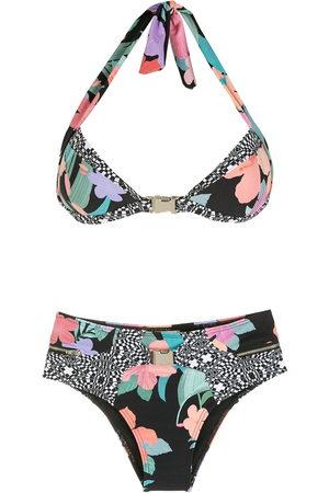 AMIR SLAMA Women Bikinis - Print Hibiscus bikini set